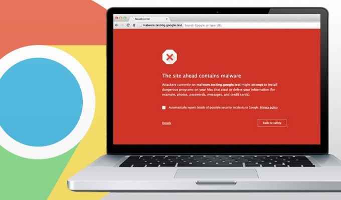 Google advertencia cuando detecte malware