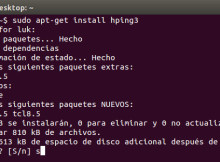 red con Hping3
