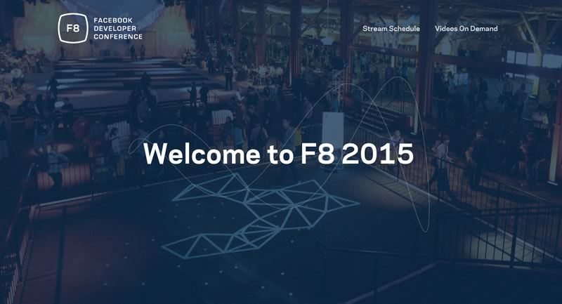 En vivo: Facebook Developer Conference F8 2015 por stream