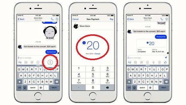 Ahora podrás mandar dinero a tus amigos por Facebook Messenger