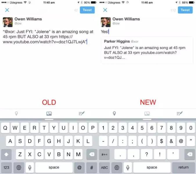 Ahora es más elegante citar tweets desde iOS y la versión web de Twitter