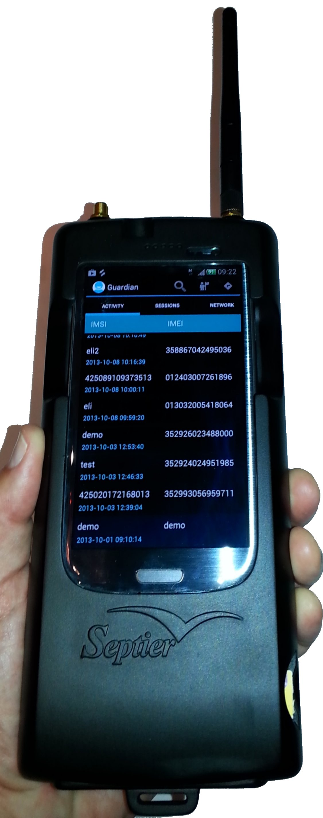 IMSI interceptor handheld