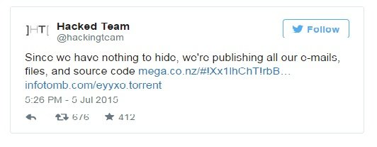hacked team twitter