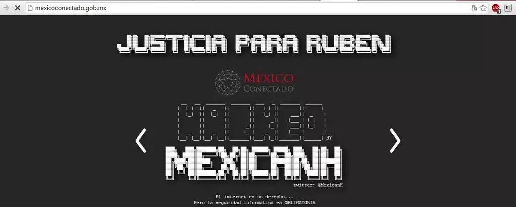 Anonymous México hackea sitio web del Gobierno para reclamar justicia