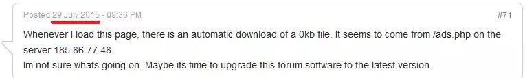 Usuario del foro curioso sobre un script malicioso inyectado en la página