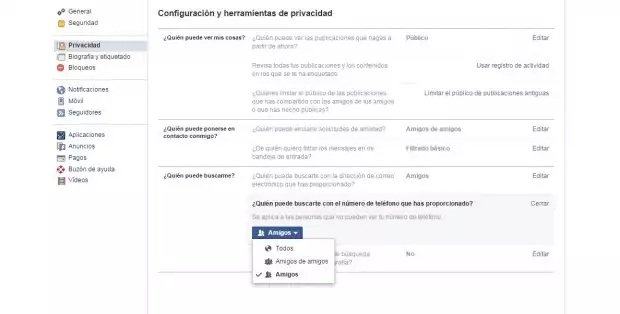 Cambios en la configuración de privacidad por defecto de Facebook