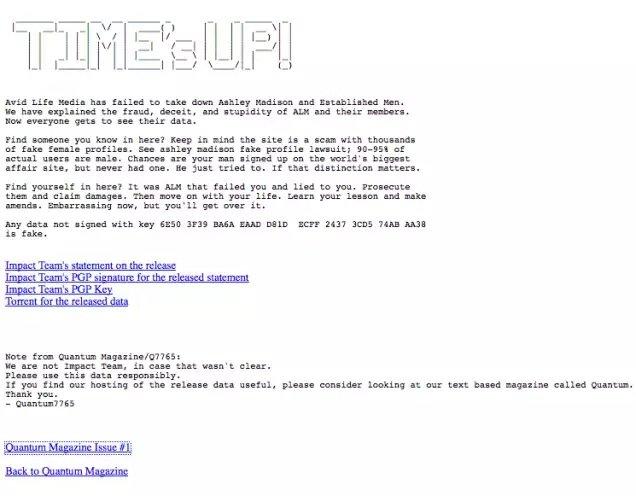 Los hackers que atacaron Ashley Madison han liberado todos los datos robados