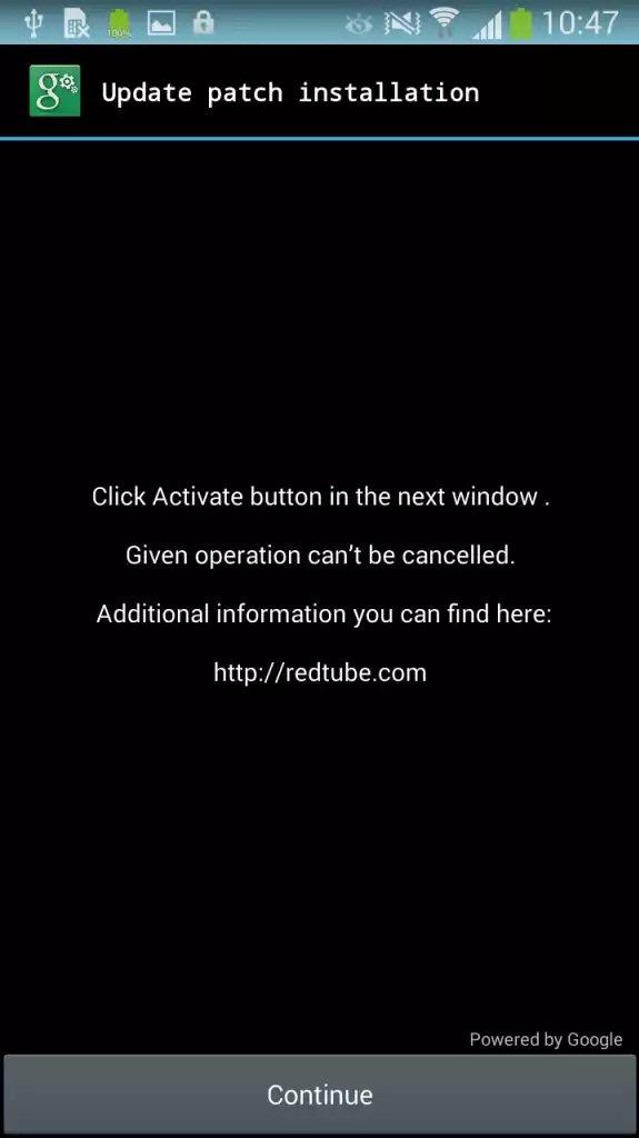 Activación oculta del administrador del dispositivo