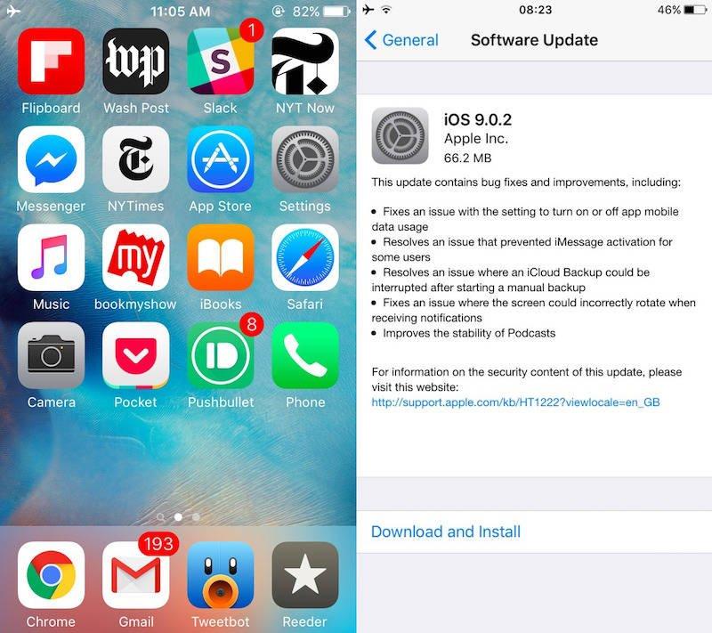 Listo iOS 9.0.2, llega para corregir falla de seguridad con el bloqueo de pantalla