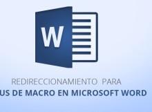 Redireccionamiento para Virus de Macro en Microsoft Word