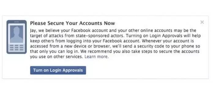 Facebook ahora avisa si hay hackers del gobierno accediendo a nuestra cuenta