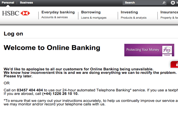 La banca en línea del HSBC sufrió un ataque DDoS