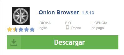 onion browser. 1.5