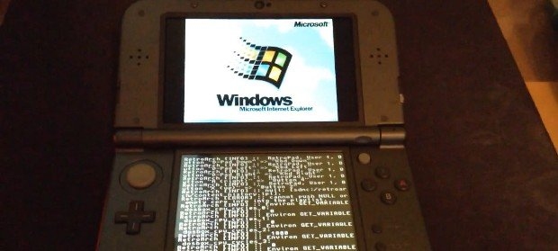 Consiguen instalar Windows 95 en una consola Nintendo 3DS XL