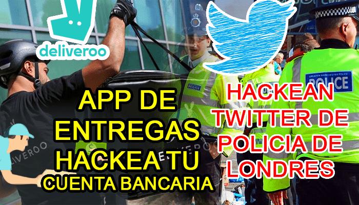 aplicacion deliveroo hack cuenta twitter policia londres entregas comida