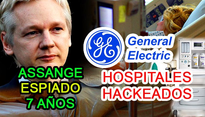 noticias de ciber seguridad julian assange general electric healthcare hack