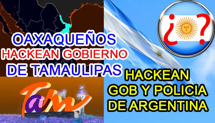 tamaulipas oaxaca hackean hack paginas web sitios argentina gobierno twitter web policia