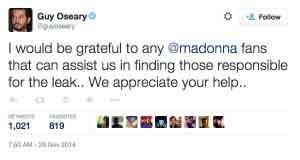 Madonna cree que su PC fue comprometida tras la filtración de seis demos