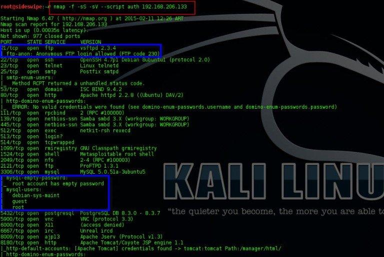 Nmap y sus scripts para escanear vulnerabilidades