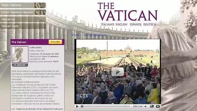 Captura de la web del Vaticano