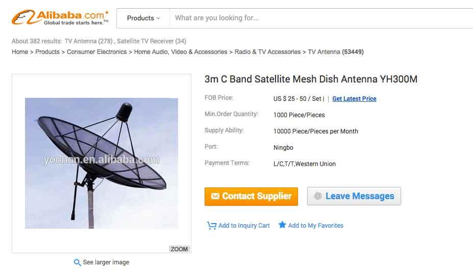 Antena parabolica interceptar senal