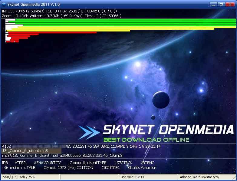 Skynet interceptar satélites