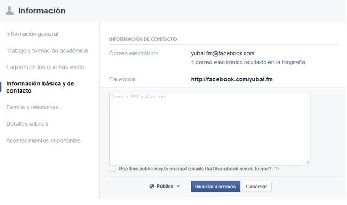 Facebook introduce el cifrado PGP en sus correos electrónicos