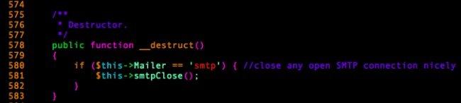 Método __destruct de PHPMailer