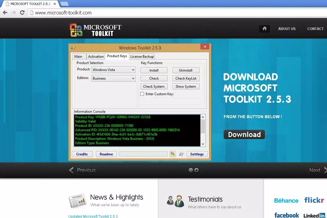 Microsoft toolkit_