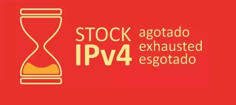 Dirección IPv4 : agotado