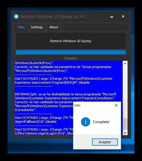 Remove windows 10 Spying