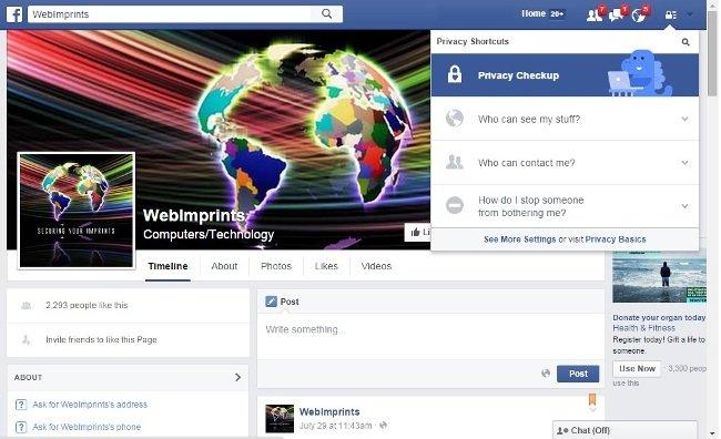Configura tu privacidad en Facebook a través del icono con forma de candado