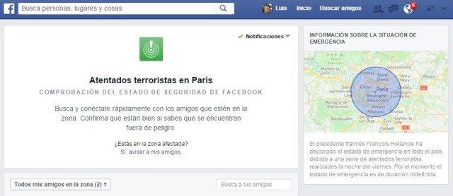 Facebook explica por qué activó la función 'Safety Check' para París pero no para otros ataques recientes