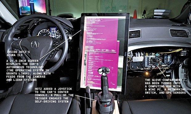 Video: Hacker GeoHot creó coche autónomo como el de Google y Tesla
